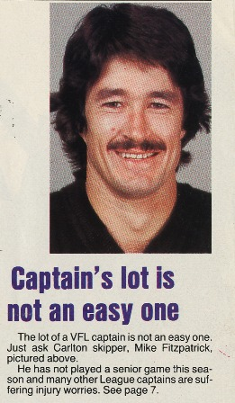 1983 - Injury woes for Fitzy (07/05/83).