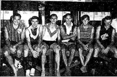 Pictured above arc some of the team's senior players and star recruits 