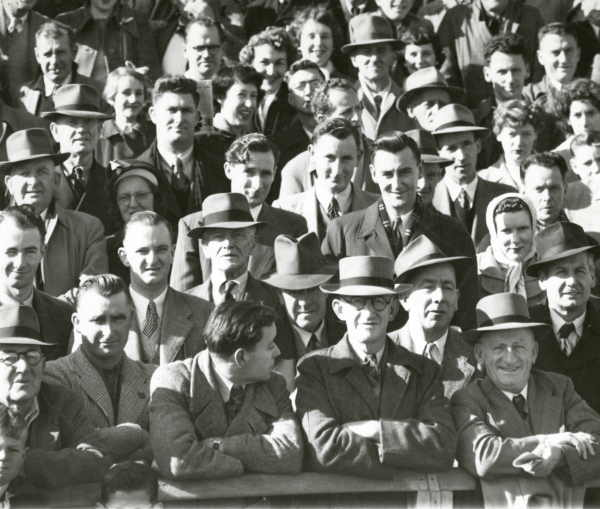 Crowd at the South Melbourne vs Carlton game at Lake Oval